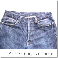 After 5 months of wear vintage jeans