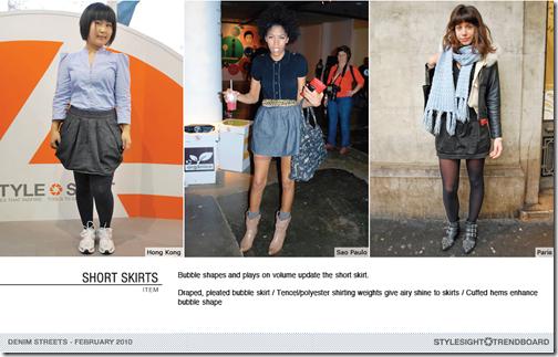 short skirts denim trend
