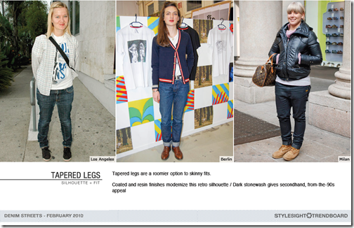 tapered legs jeans trend