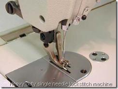 Heavy duty single needle lockstitch machine