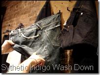 sythetic indigo wash down