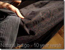 Natural Indigo Wash Down After 10 years