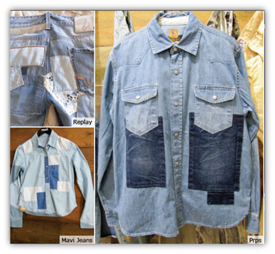 graphic patch on denim jeans jackets