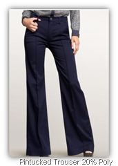 gap pintucked trouser