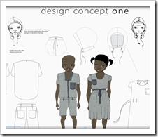 School unform design - denim