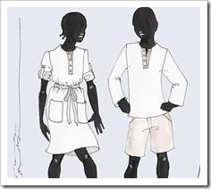 school uniform design in denim