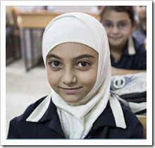 Lebanese child in the school