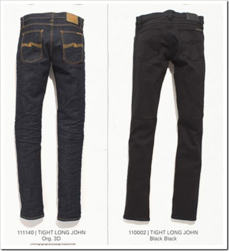 Organic dry selvedge denim nudie