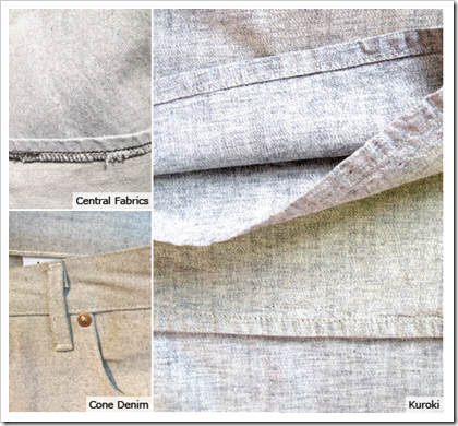 Marled Grey Central fabrics cone denim
