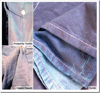Luminescence prosperity textile kuroki denim