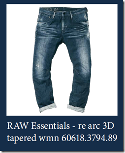 Raw Essential Re Arc 3d Tapered Women G Star