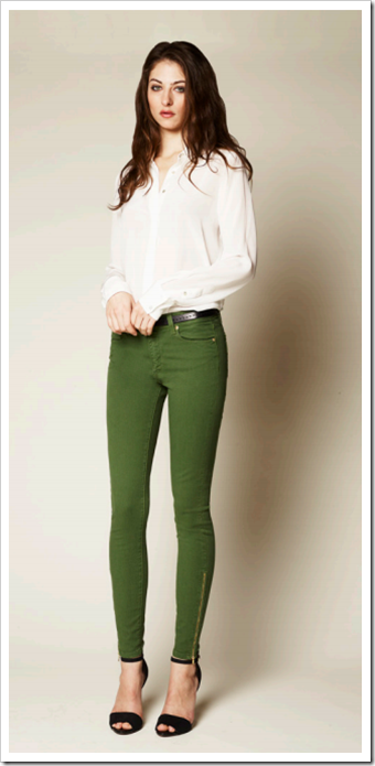 Hoxton Zip Ultra Skinny (Forest ) Paige Denim