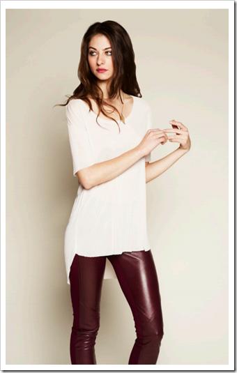 Athena Pull On Leather Skinny Paige Denim