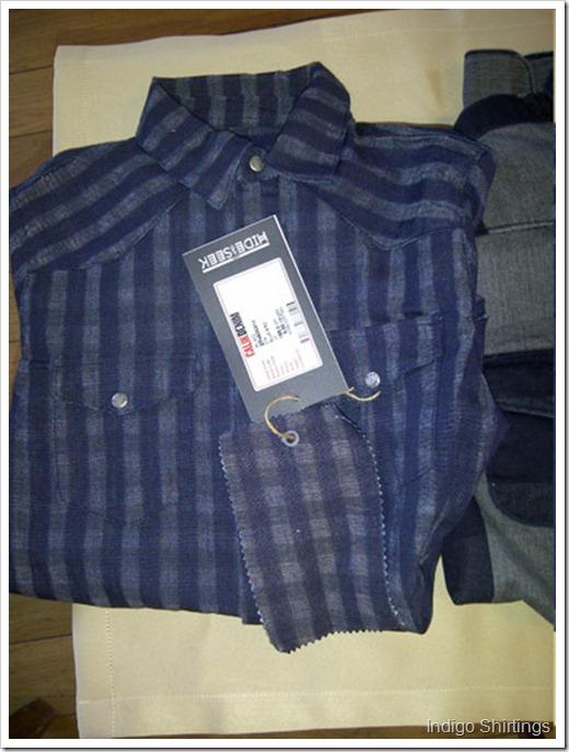 Calik aw1415 indigo shirting1