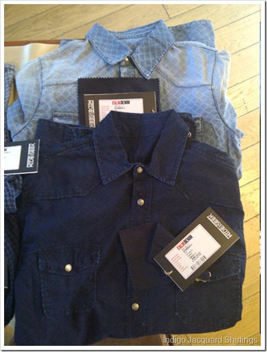 Calik aw1415 jacquard indigo shirting