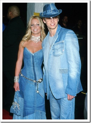 Justin Timberlake and Britney Spears in double denim