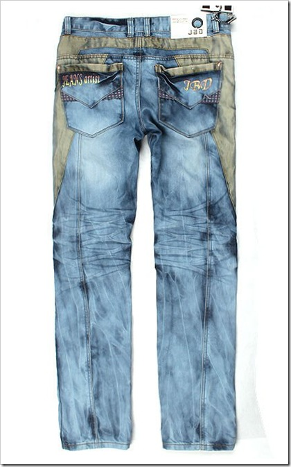 Dual looks, painted jeans?