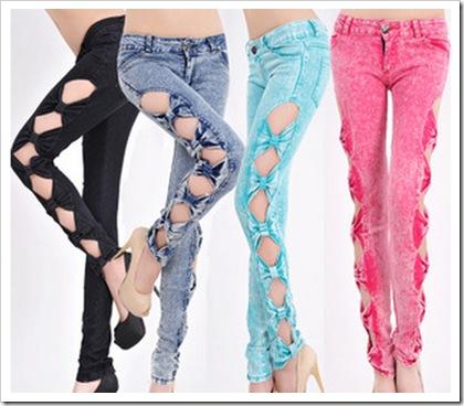 Fancy window jeans