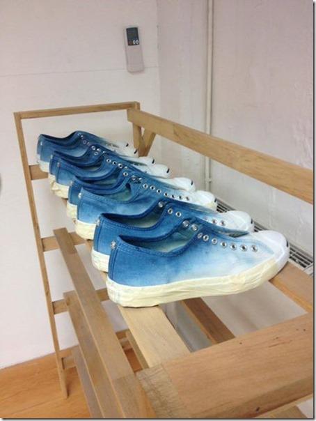 indigo dyed shoes