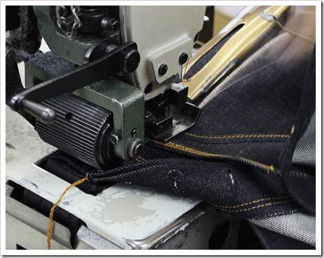 raw denim stitching