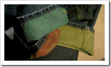 Colored weft denim fabrics from Cone