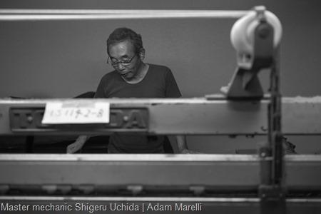 Master mechanic Shigeru Uchida