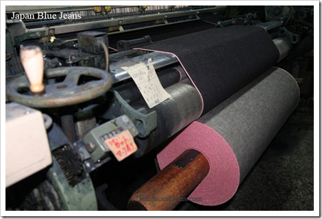 Selvedge denim looms weaving