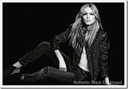7 For All Mankind Fall Winter 2014 Women's Lookbook - Authentic Black Distressed