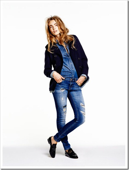Scotch & Soda Amsterdams Blauw 2014-2015 Fall Winter Lookbook - La Parisienne Zip - Denim western shirt and La Parisienne - Hell's Kitchen