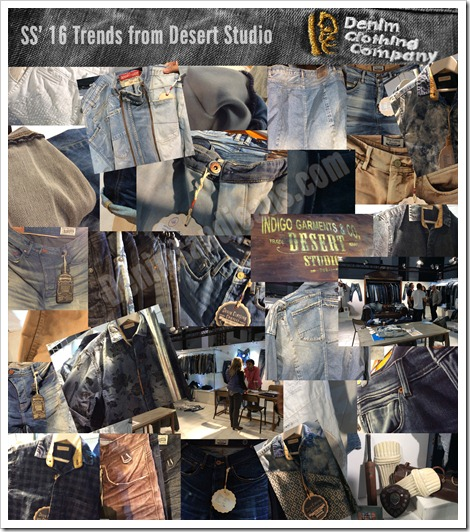 denim clothing collage