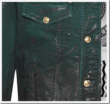 faded coated denim versace