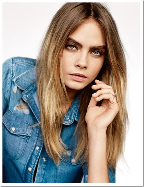 Cara Delevingne Topshop's spring summer 2015 collection 1.