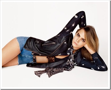 Cara Delevingne Topshop's spring summer 2015 collection 1