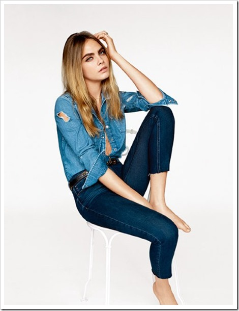 Cara Delevingne Topshop's spring summer 2015 collection
