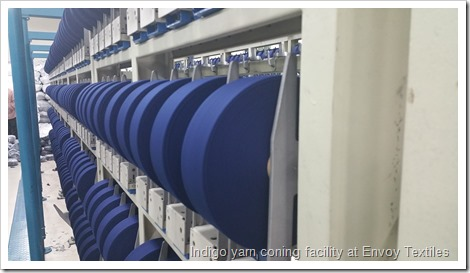 Indigo yarn coning facility