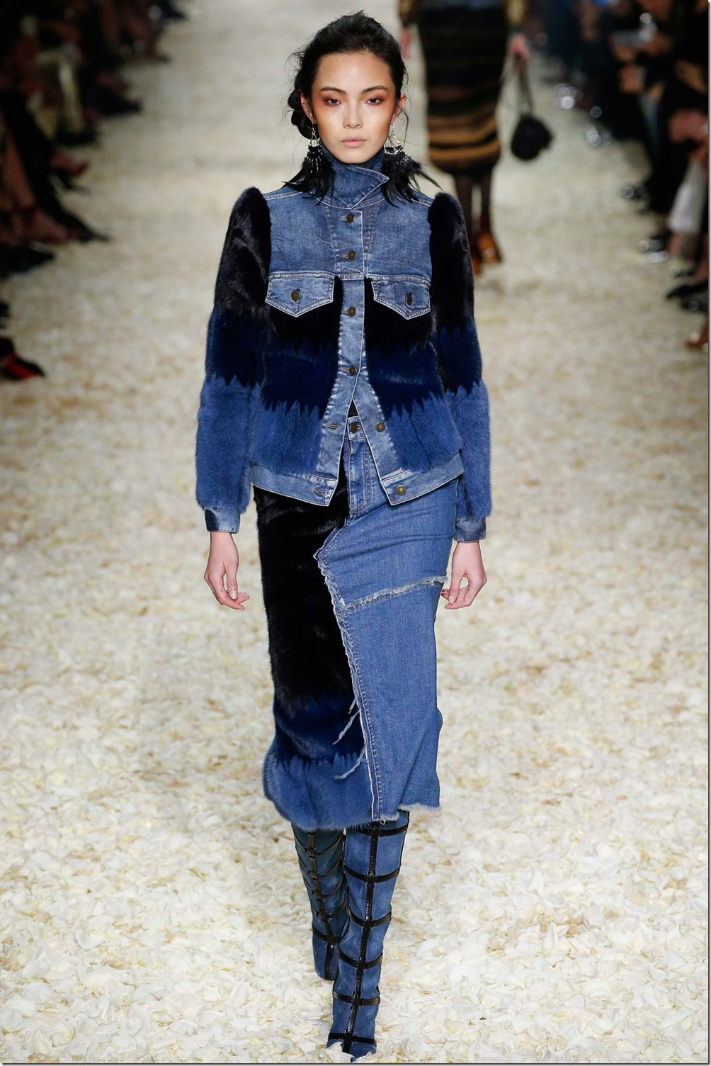 Tom Ford Fall 2015 Runway Patchwork Denim Collection denimsandjeans