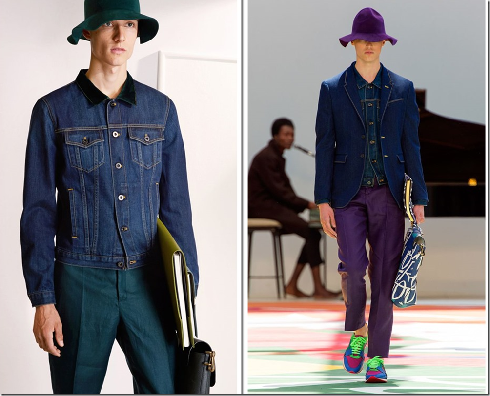 Burberry Prorsum Spring Summer 2015 Denim Looks