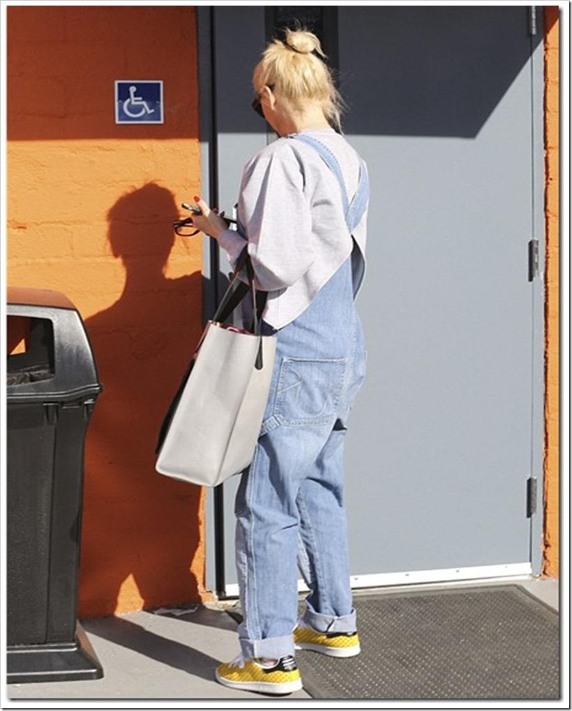Gwen Stefani in Retro Patchwork denim