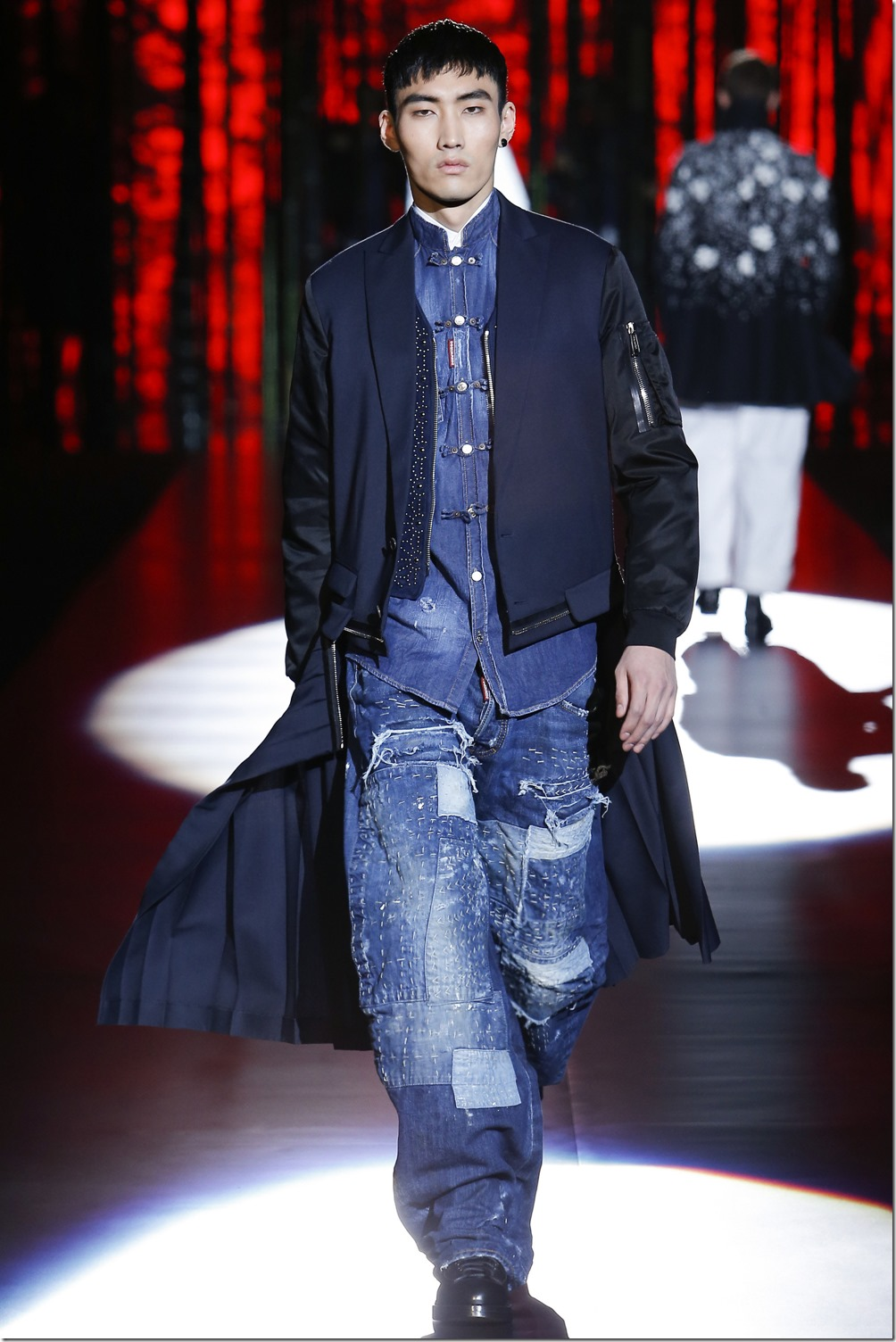 Dsquared2 Fall 2016 Menswear Denim Trends