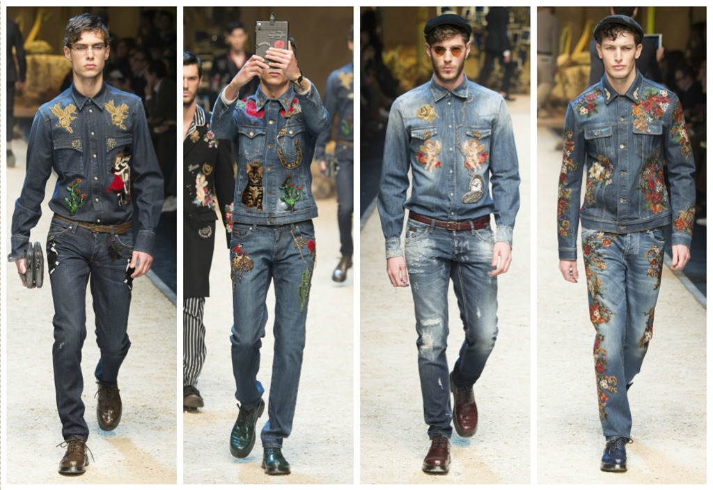 93622d1fce Embroidered Men s Denims From Dolce   Gabbana For Fall 2016 – Denim ...