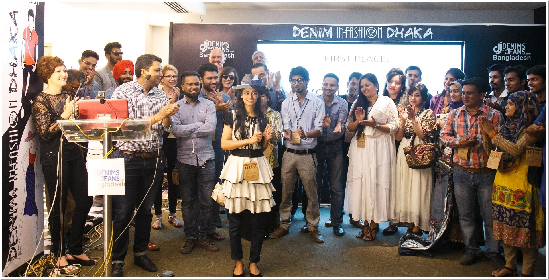 Purna Ahmed : Designer of beautiful Denim Hat at 5th Edition Denimsandjeans.com Bangladesh