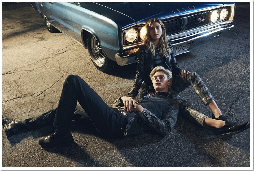 Tommy Hilfiger Ad Campaign F/W '16 - Hailey Baldwin and Lucky Blue Smith : Denimsandjeans.com