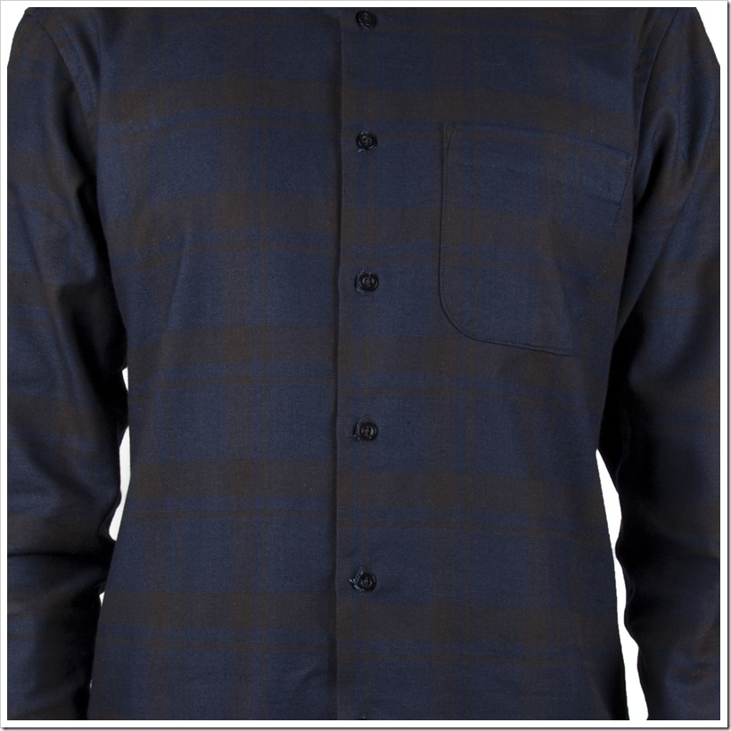 Real Indigo Flannel Indigo Black -Regular Shirt