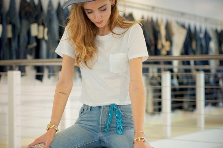 Shorts for Women On Sale, Levis Collection, Denim Blue, Cotton, 2017, 10 Chiara Ferragni