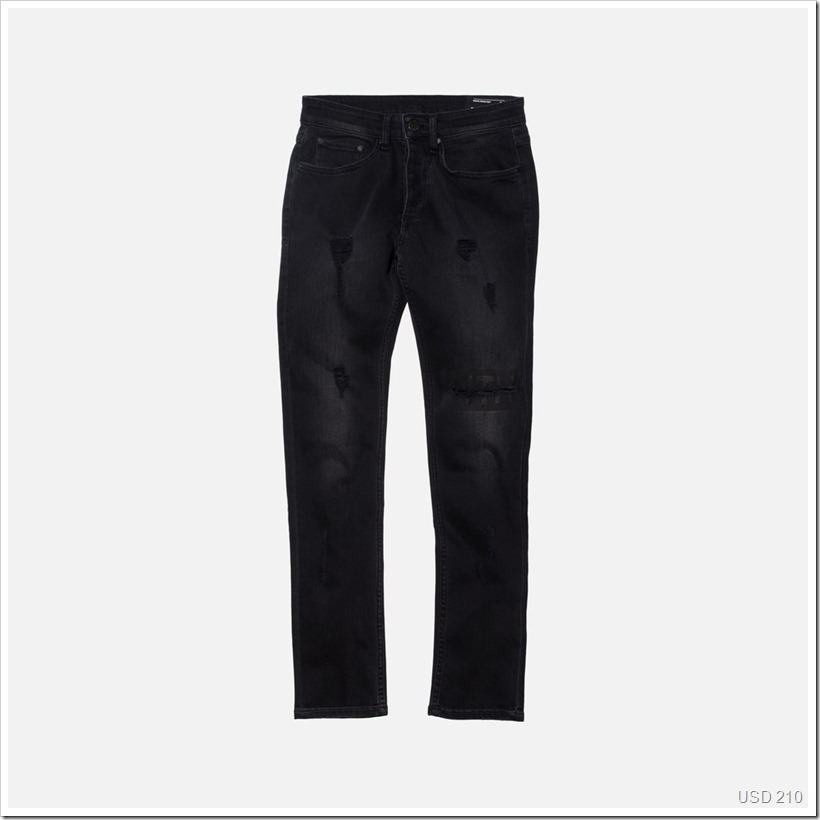 Varick Destroyed Denim Black | Denimsandjeans.com