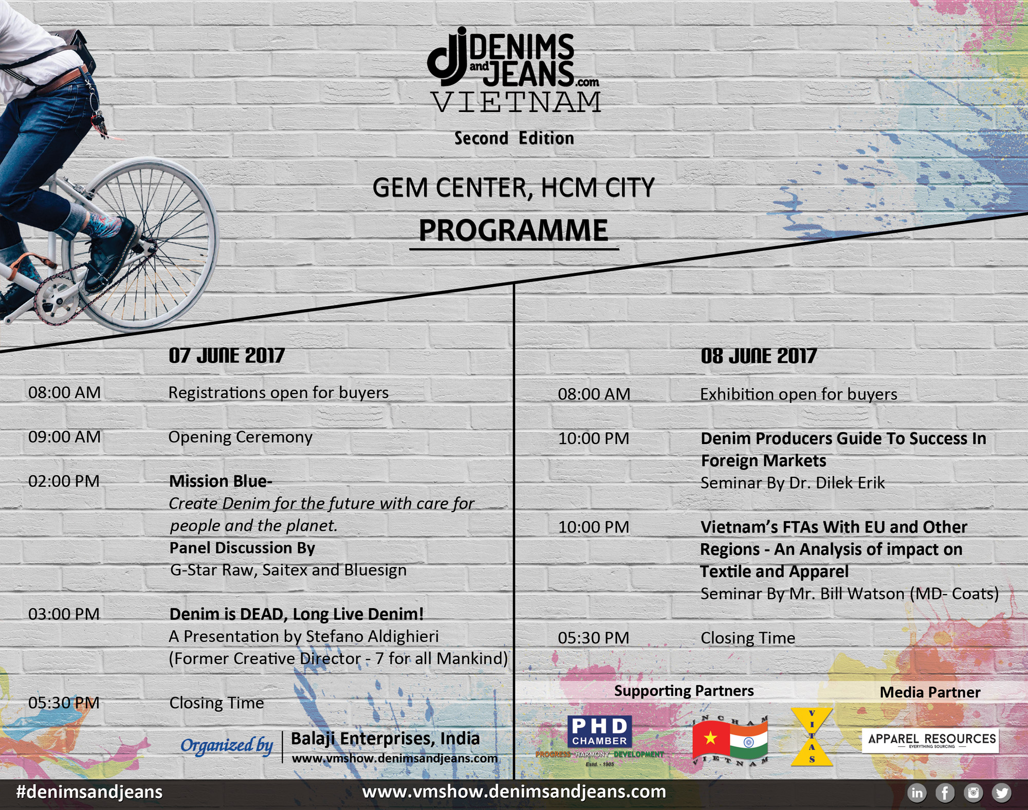 Denimsandjeans Vietnam Schedule | June 7 -8 , 2017