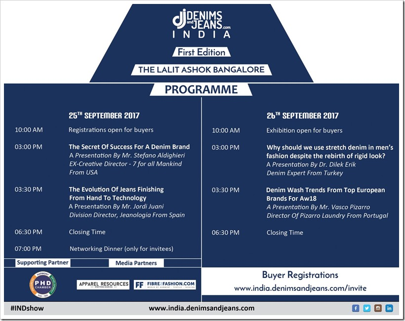 Agenda Of The 1st Edition Of Denimsandjens India | Denimsandjeans