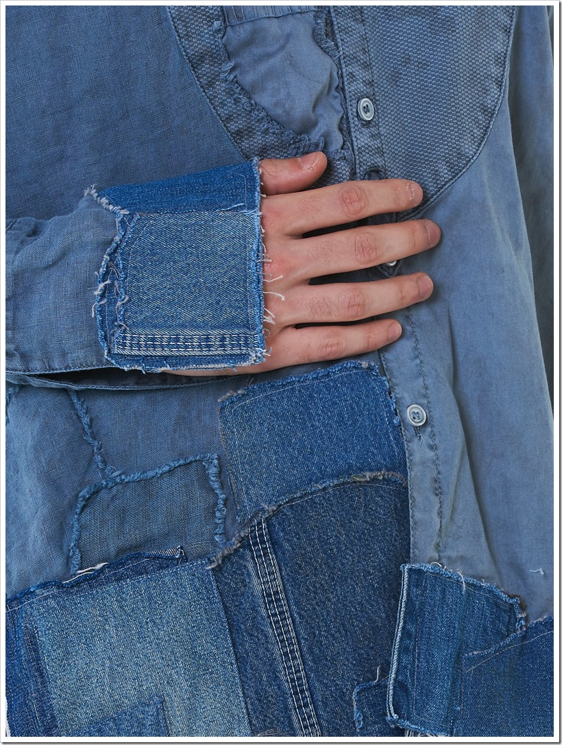 Greg Lauren Focuses On Distressed Indigo Denim Patchwork In His SS18 Collection | Denimsandjeans.com
