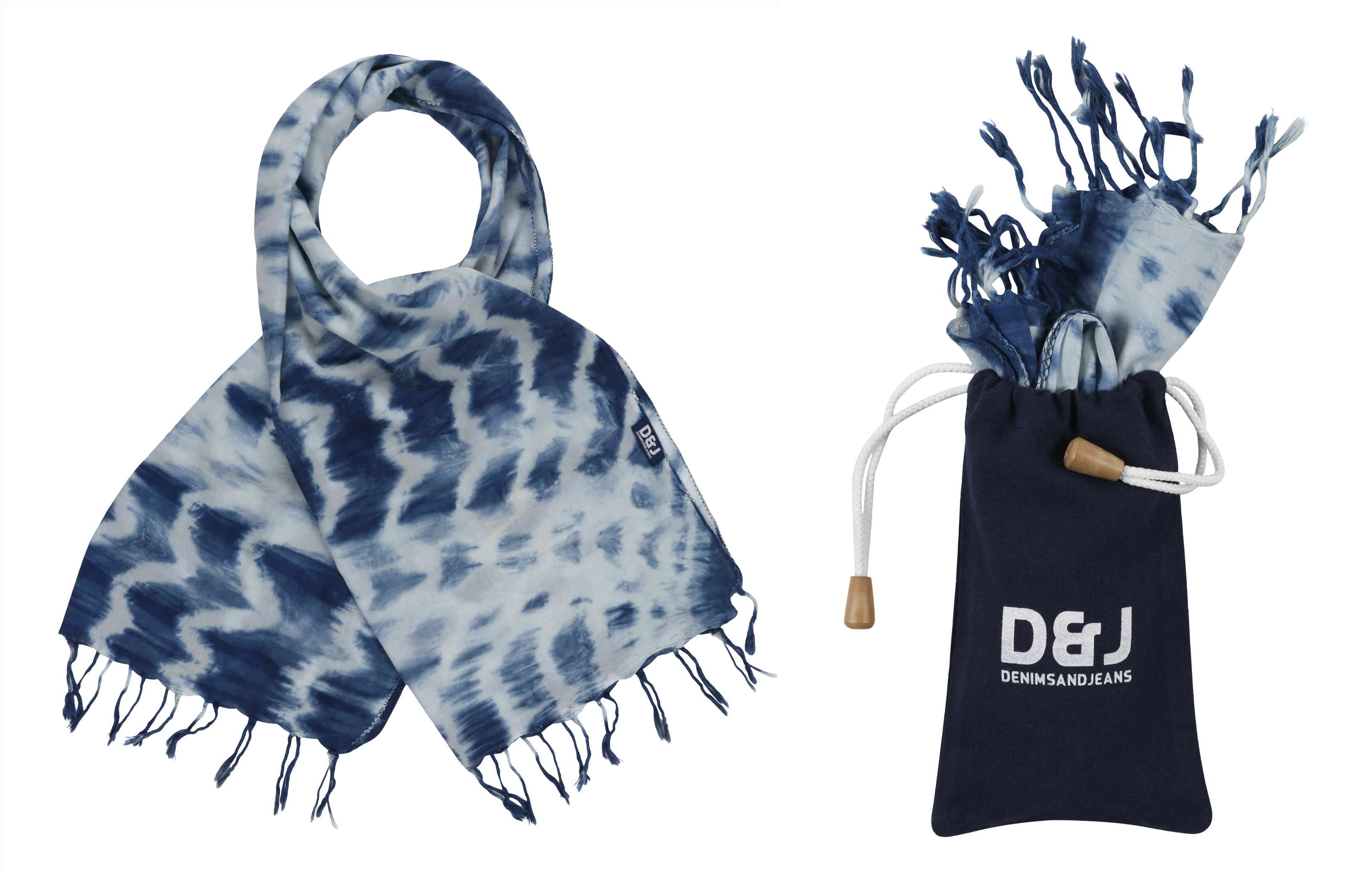 Natural Indigo Scarves From Denimsandjeans