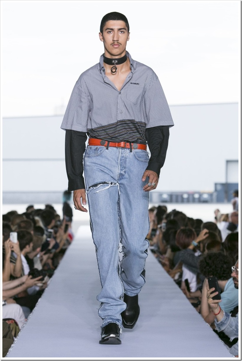 Crazy And Classic Denim Pieces From The SS'19 Collection Of VETEMENTS | Denimsandjeans
